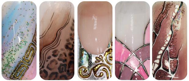 Ногти дизайн цветными гелями