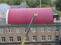 бескаркасное арочное строительство
